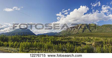 Stock Image of Scenic view of near Kluane Lake, Yukon Territory.