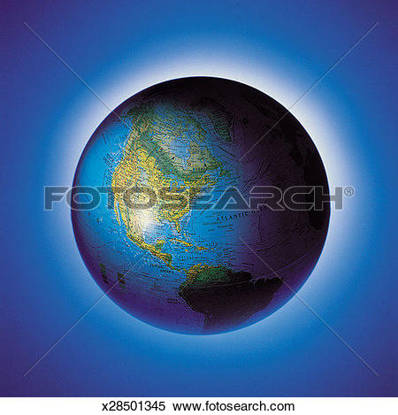 Stock Image of Blue, Canada, Cartography, Geography, Globe.