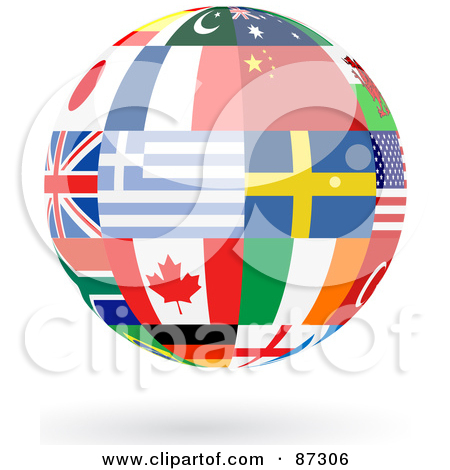 Canadian Flag Globe With A Silhouette Of Canada Posters, Art.