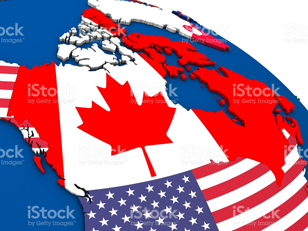 Canada On Political Map stock photo 521695130.