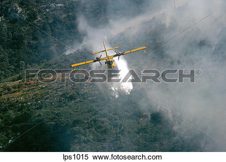"Stock Image of 15 France Provence ""Canadair"" Water Bomber Dropping."