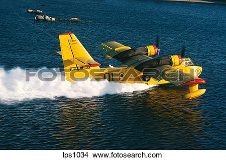 "Stock Photo of 34 France Provence ""Canadair"" Water Bomber Airplane."