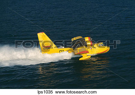 "Stock Image of 35 France Provence ""Canadair"" Water Bomber Airplane."