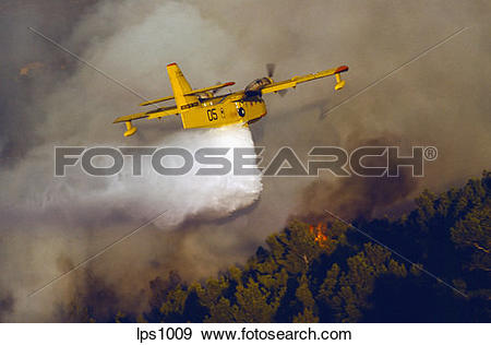 "Stock Photograph of 09 France Provence ""Canadair"" Water Bomber."