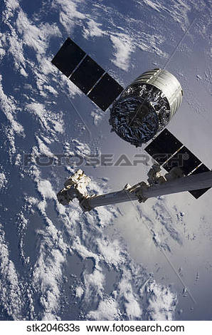 Stock Images of Canadarm2 robotic arm releases the Cygnus.