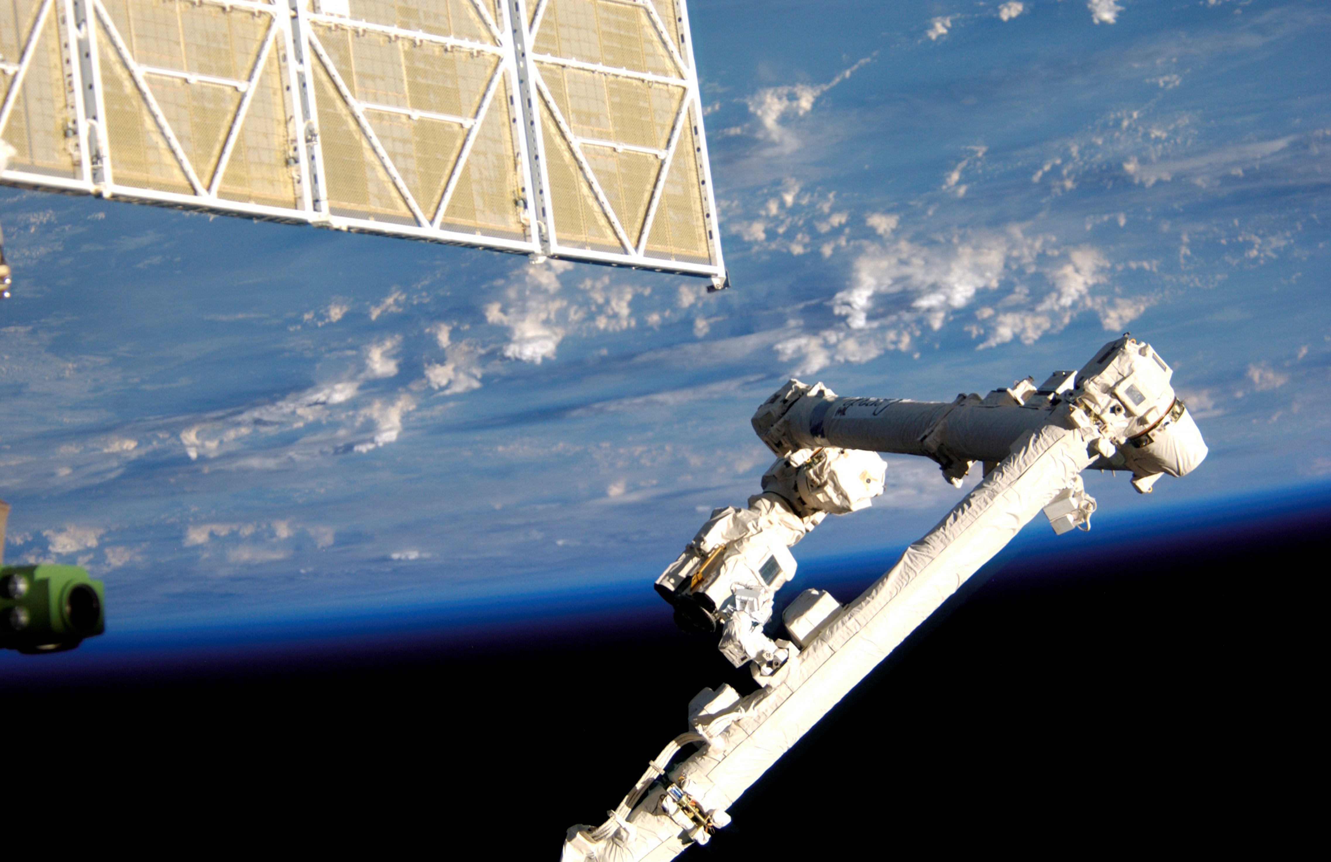 Photo of the Canadarm2 at the International Space Station.
