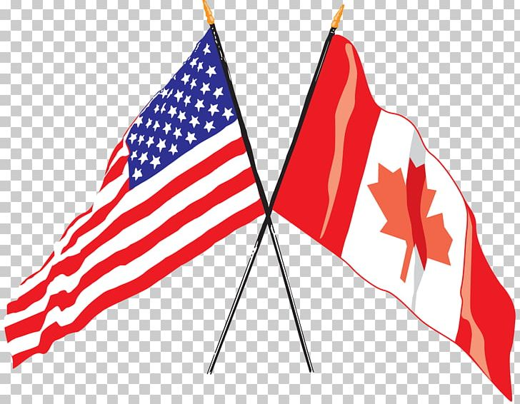 Flag Of The United States Flag Of Canada Canadian Americans PNG.
