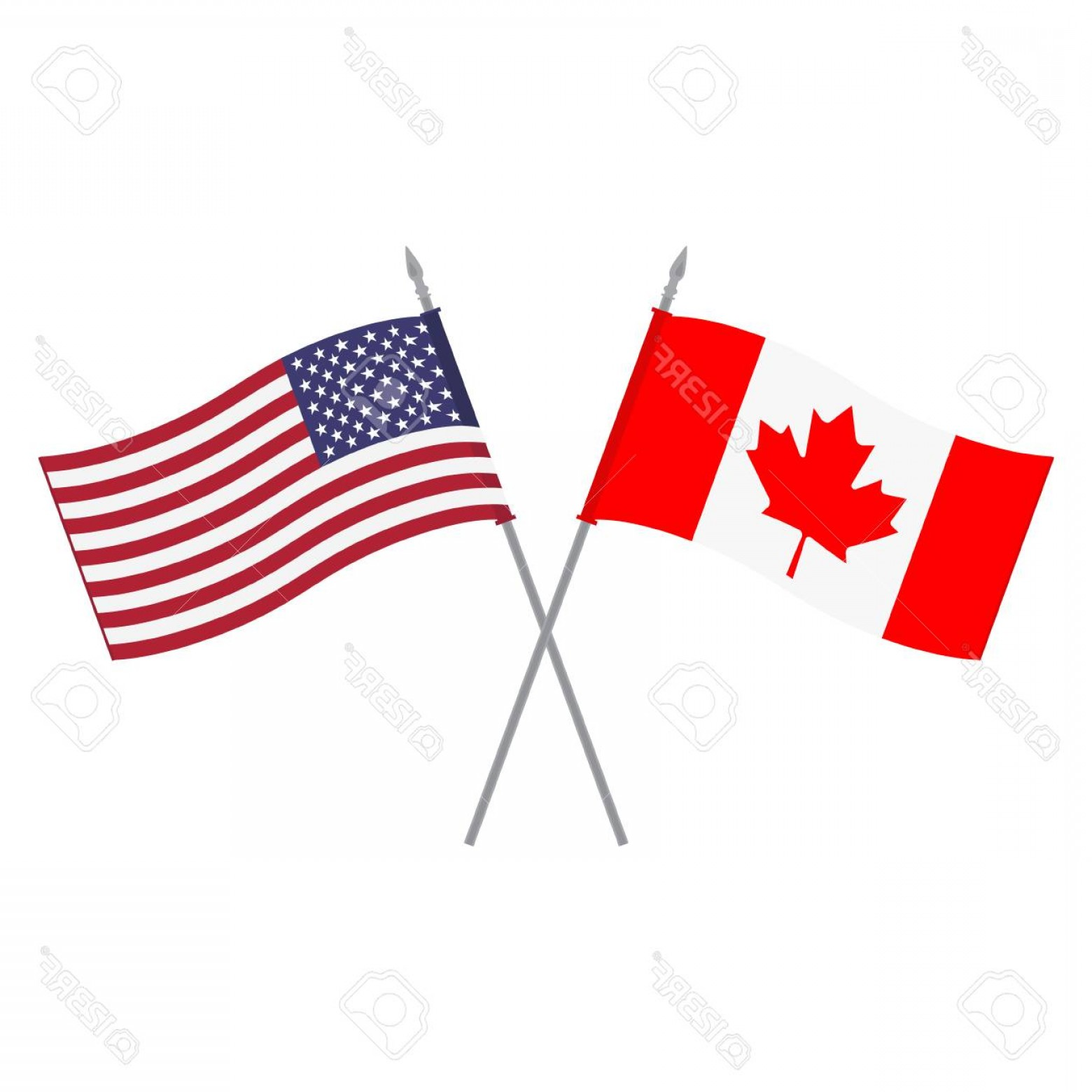 Vector Us Canada Images.