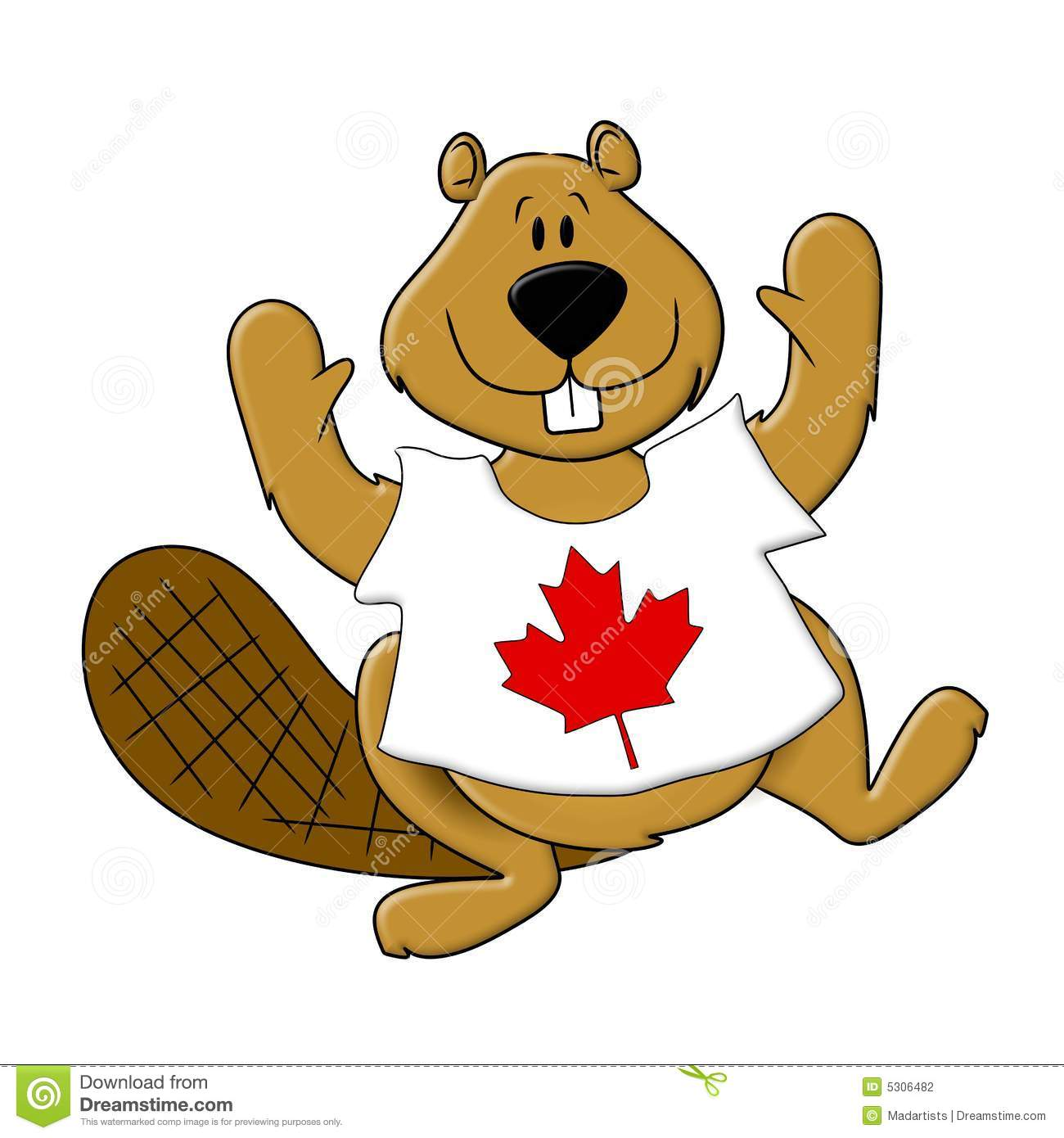 Canadian beaver clipart 2 » Clipart Station.