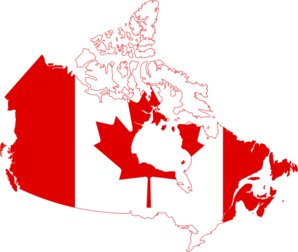 Canadian clip art map.