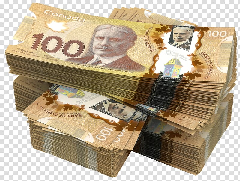 Bundle of 100 Canadian dollar banknotes, Banknotes of the Canadian.