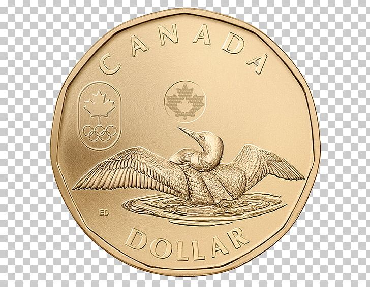 Winter Olympic Games Canada Loonie Toonie Canadian Dollar PNG.