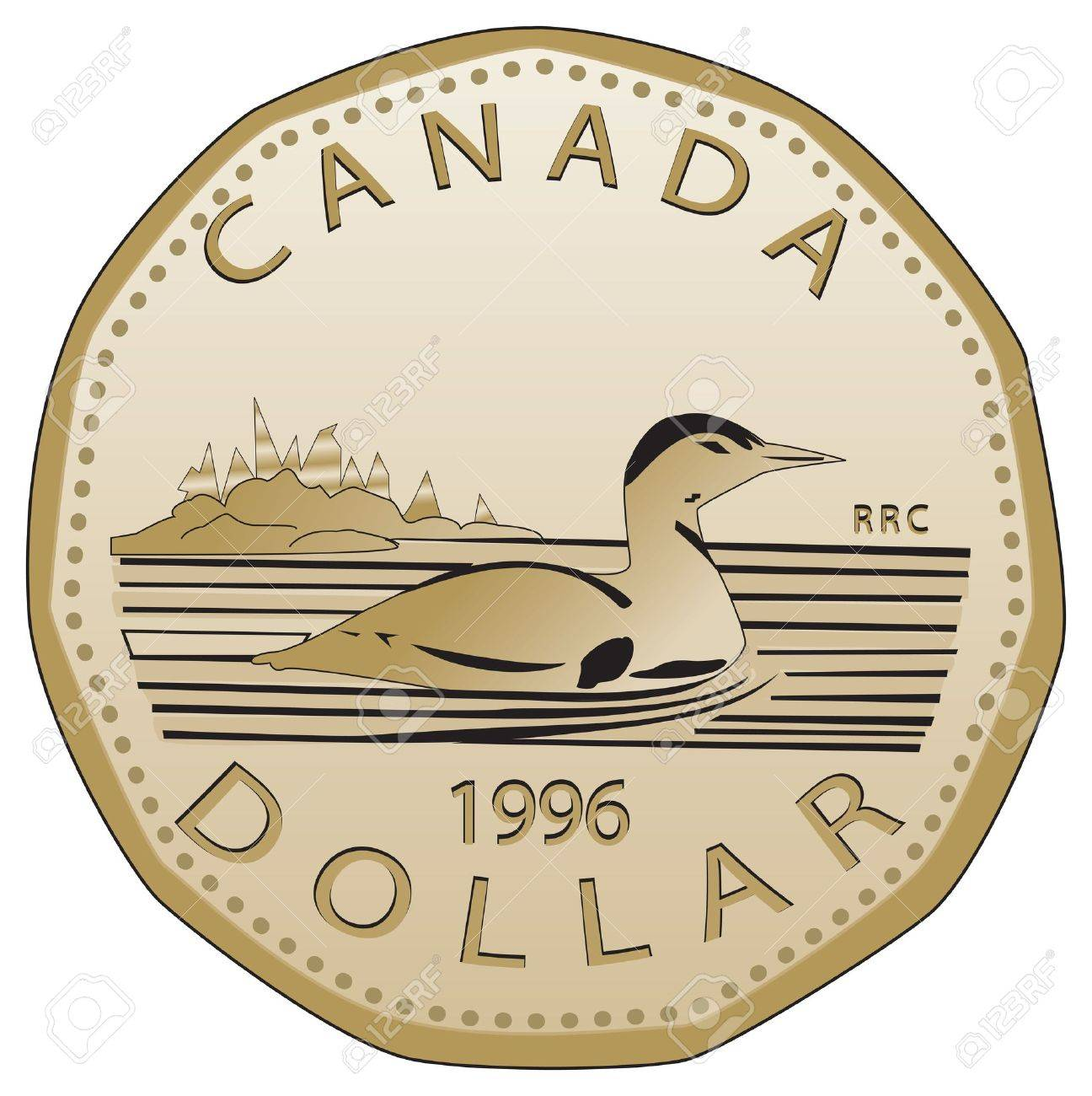Canadian dollar fully vectorized Very detailed, realistic front...