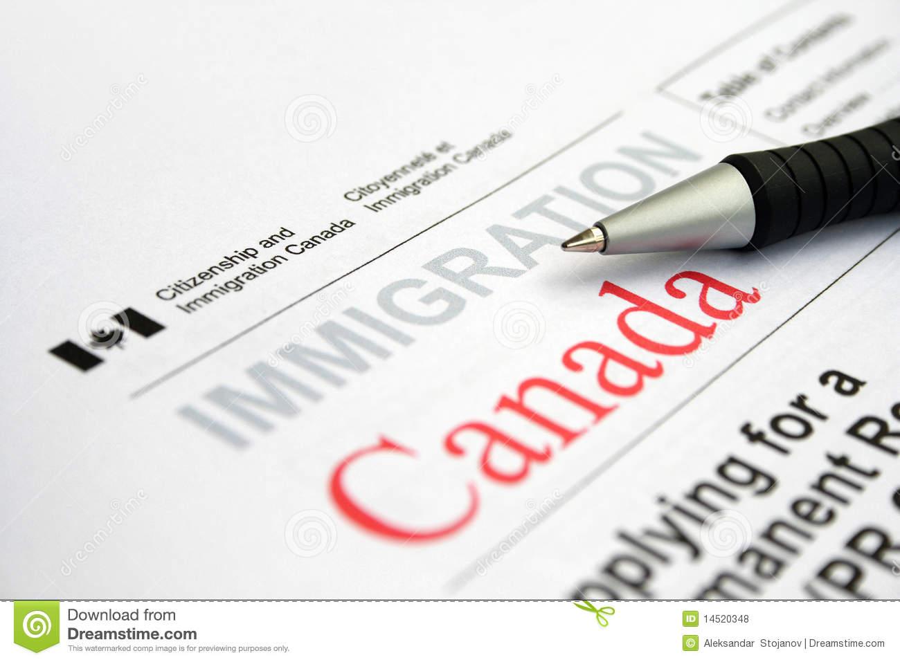 Canadian Visa Application Royalty Free Stock Photos.