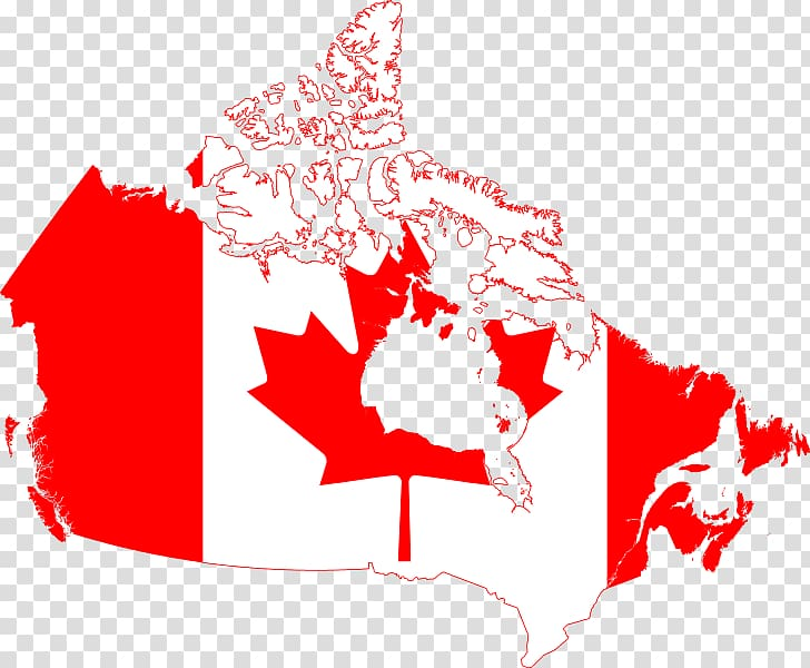 Flag of Canada Map , map of canada transparent background.