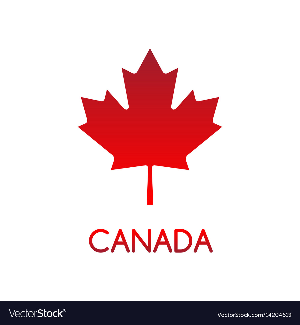 Simple of canadian maple leaf.