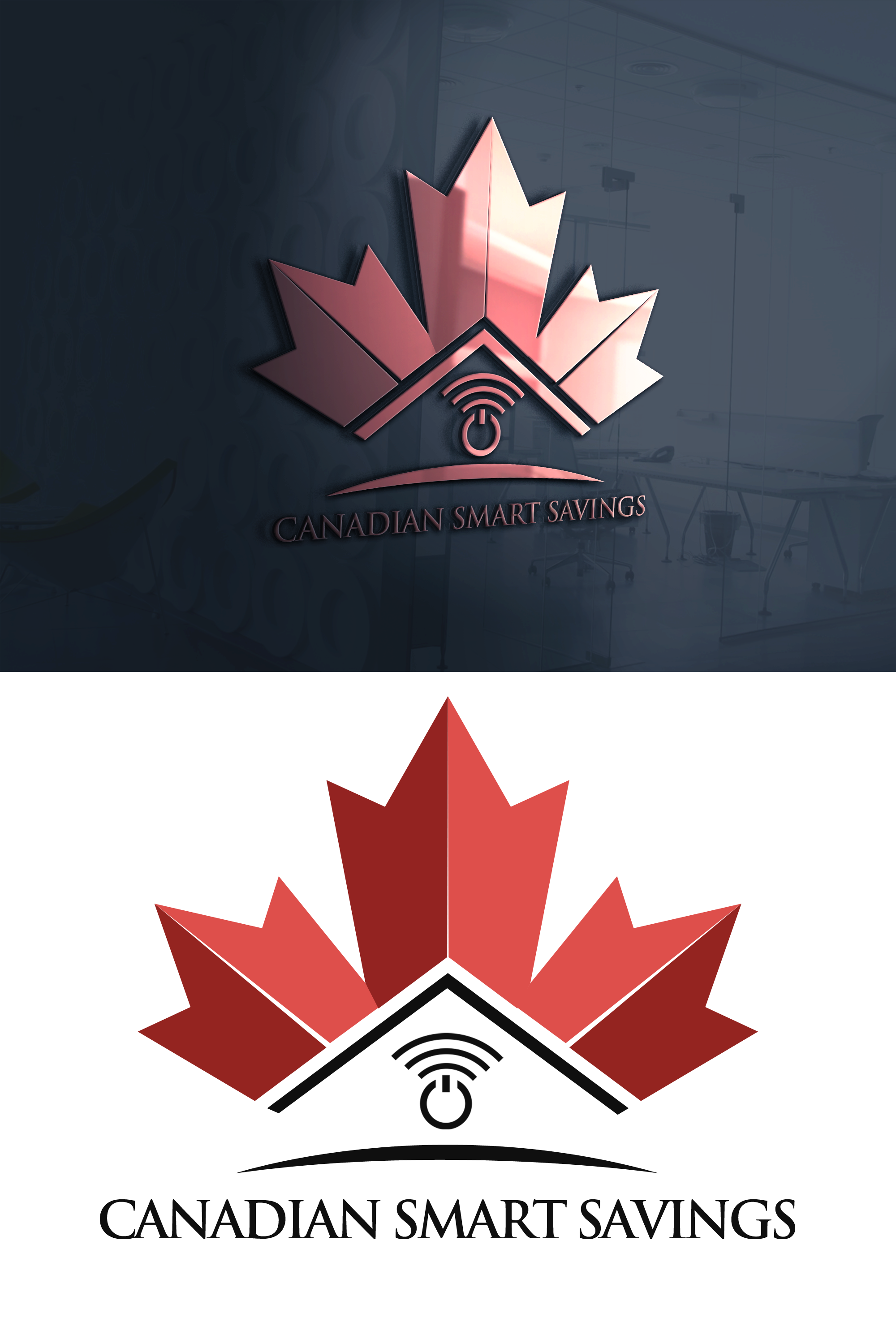 Modern, Professional Logo Design for Canadian Smart Savings.