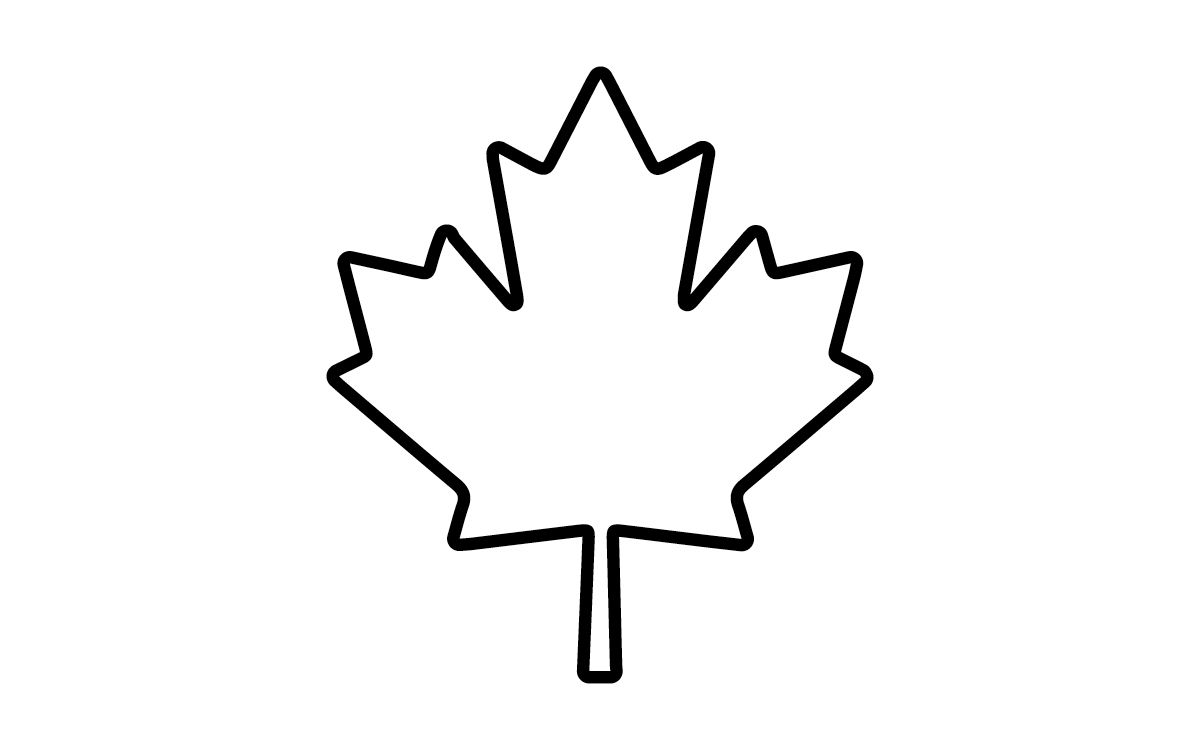 Canadian Maple Leaf Coloring Page.