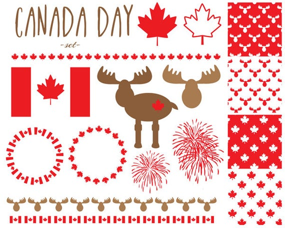 60% OFF SALE, Canada Day Clipart, Clipart, Moose Clipart, Canadian.