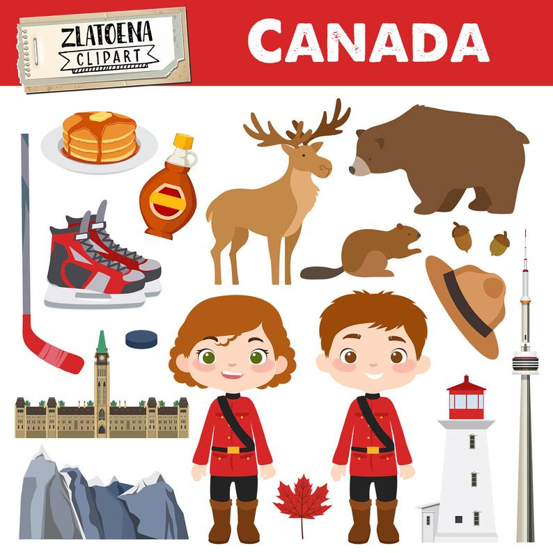 Canada clip art Canadian clipart Canada graphics Maple syrup Moose clipart  Deer Bear Beaver clipart Hockey clipart Hockey graphics Toronto.