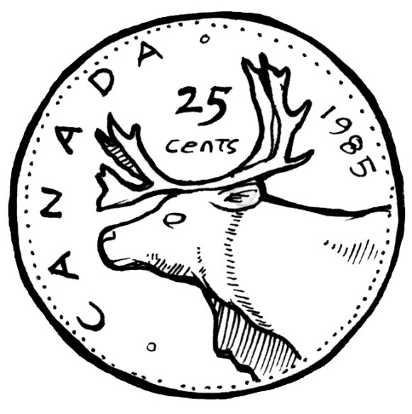 Canadian Quarter Clipart.