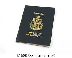 Canadian passport Stock Photo.
