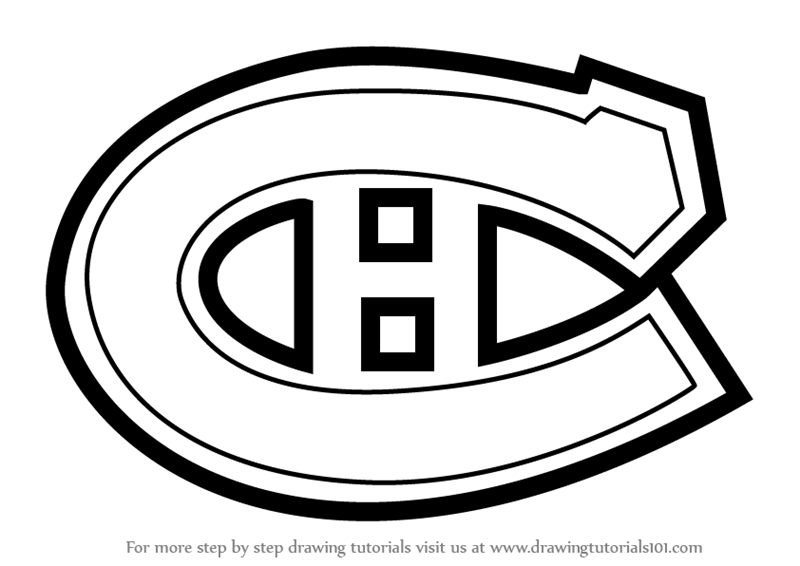 Learn How to Draw Montreal Canadiens Logo (NHL) Step by Step.
