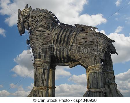 Stock Photography of Trojan Horse in Canakkale Square,Turkey.