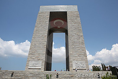 Canakkale Monument Editorial Stock Image.