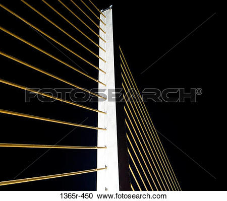Stock Photography of Low angle view of a cable.