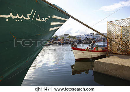 Stock Photography of Africa, Tunisia, Bizerte, Old Port Canal.