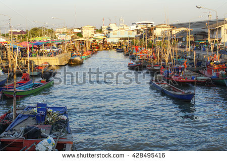 Fishing Barge Stock Photos, Royalty.