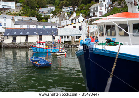 Fishing Harbour Stock Images, Royalty.