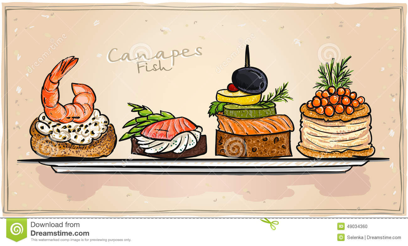 Canape Stock Illustrations.