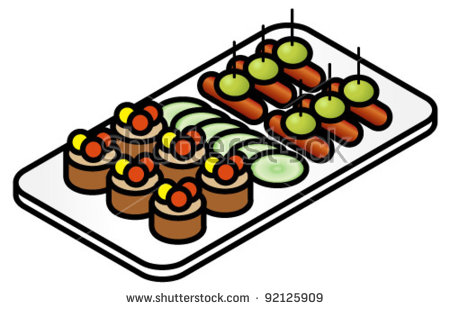 A Plate Of Colorful Canapes.