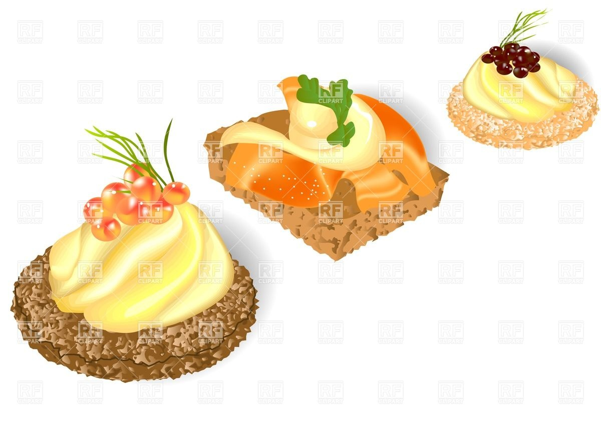 Three kinds of canape Vector Image #27074.