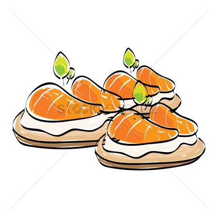 Free Canapes Stock Vectors.
