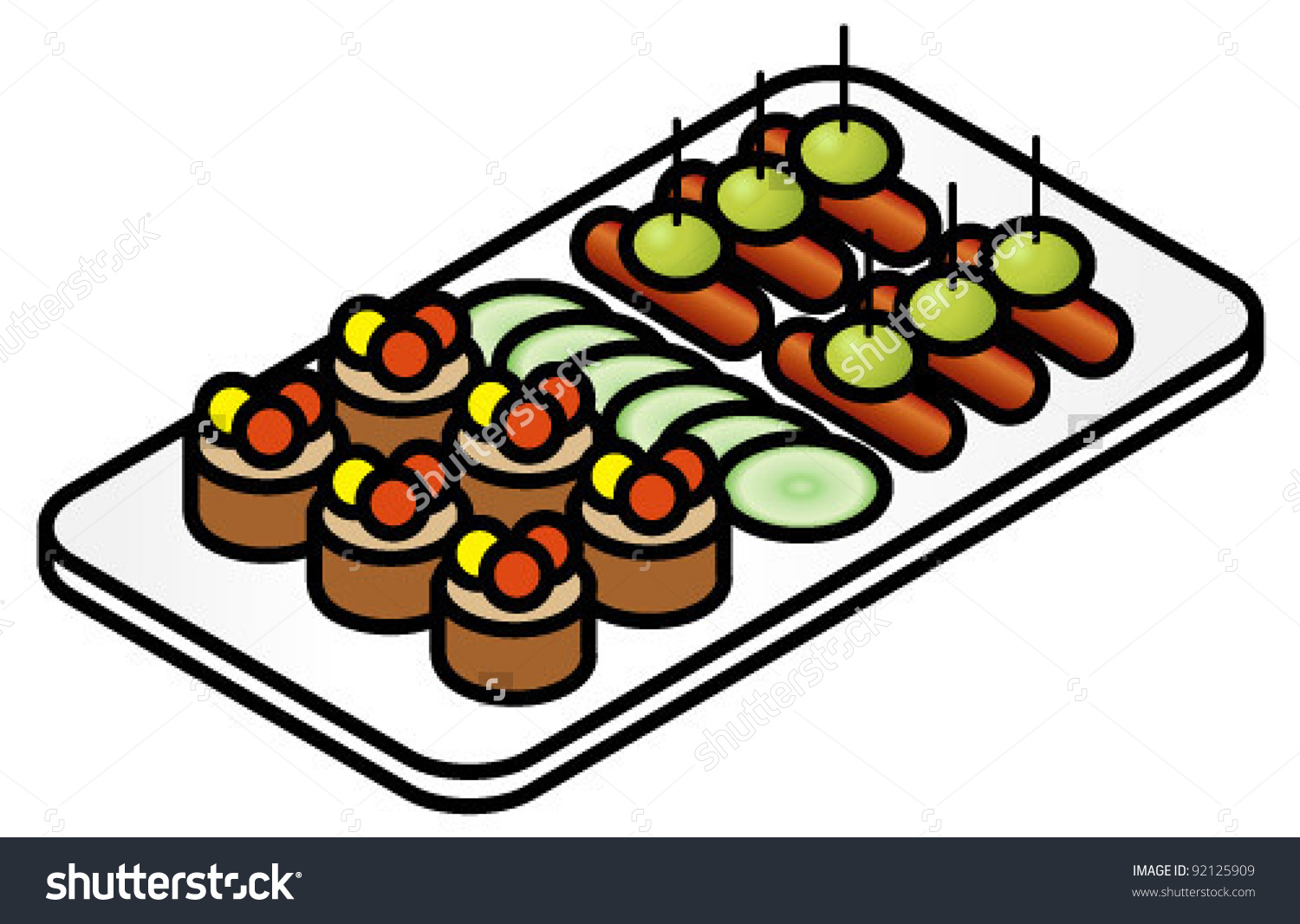 iCLIPART Vector Image Canapes.