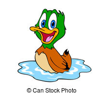 Clipart mare canard.