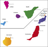 Canary Islands Map Royalty Free Stock Photography.