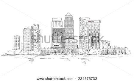 Canary Wharf London Stock Photos, Royalty.