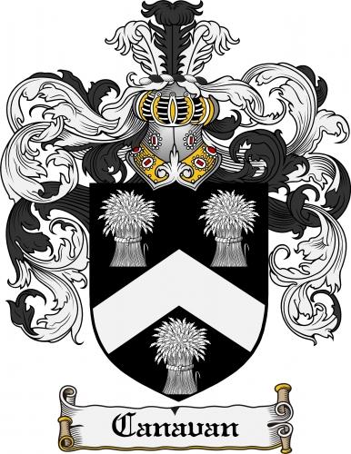 Canavan Coat of Arms Canavan Family Crest Instant Download.