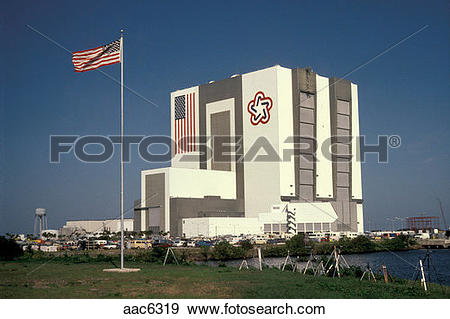 Stock Photograph of Vehicle Assembly Building. Cape Canaveral.