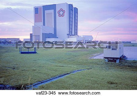 Stock Image of Space vehicle assembly building, Kennedy Space.