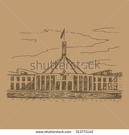Canberra Parliament Stock Vectors & Vector Clip Art.