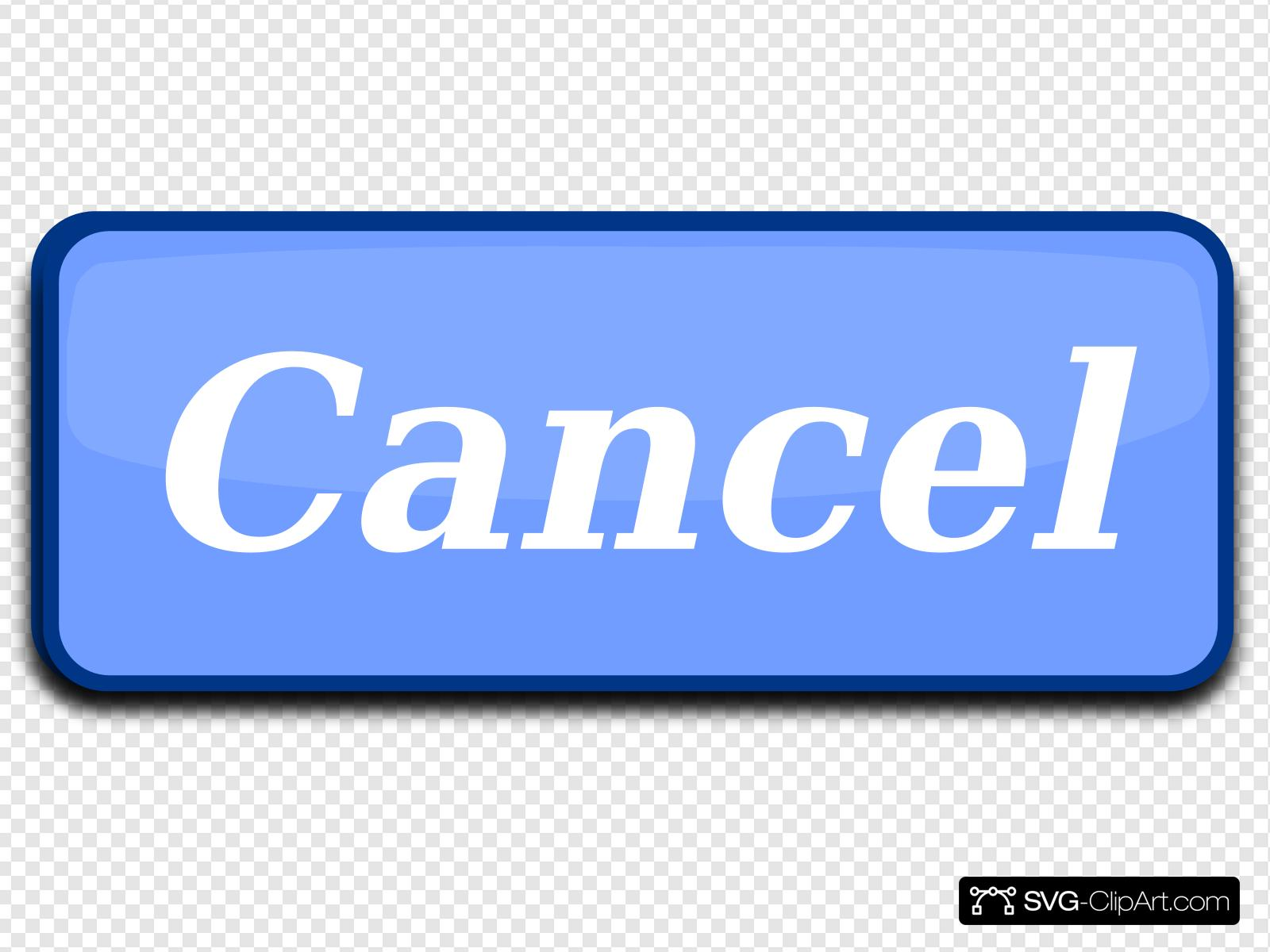 Cancel Button Clip art, Icon and SVG.