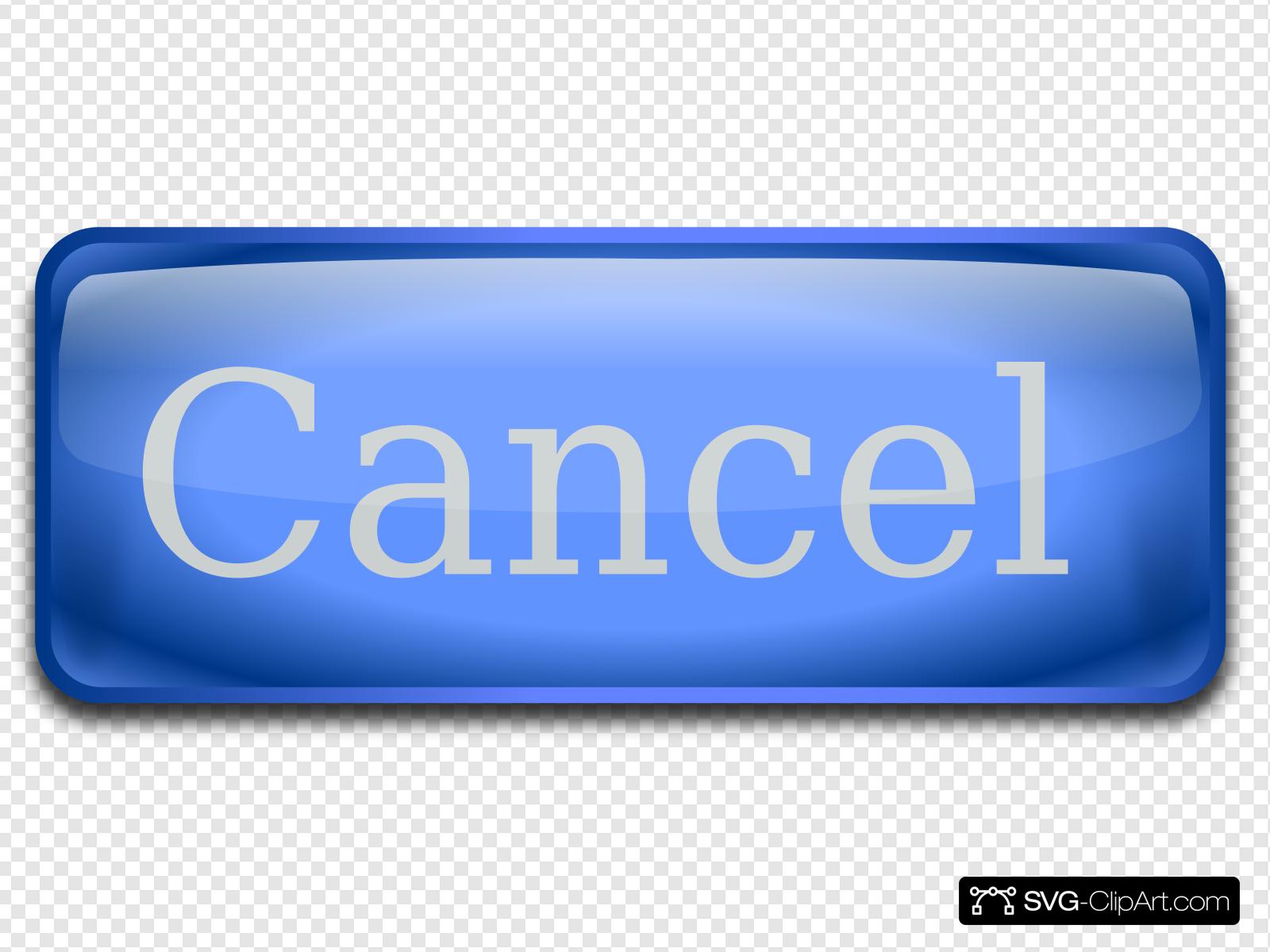 Cancel Button Clip art, Icon and SVG.
