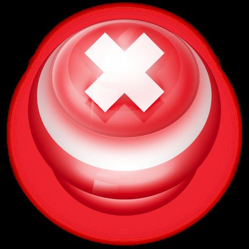 Cancel Button PNG Transparent Images.