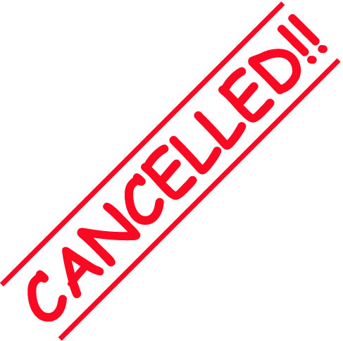 Cancellation Clipart.