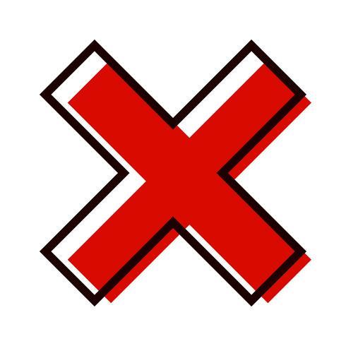 Cancel Icon Design.